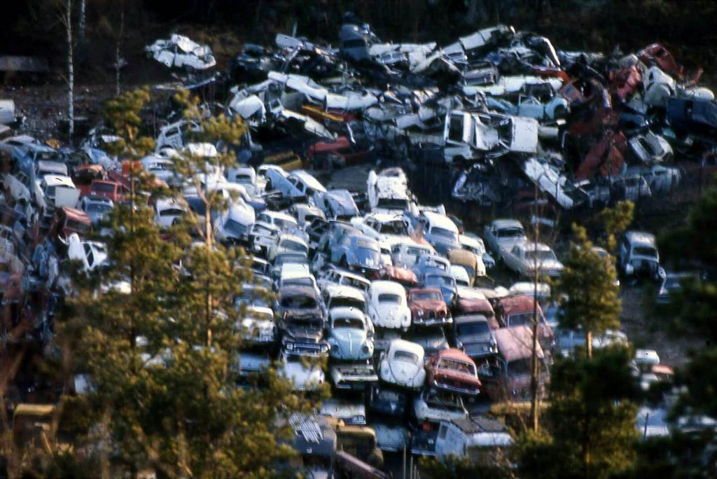 Bilskrot haugen med oversikt over alle biler
